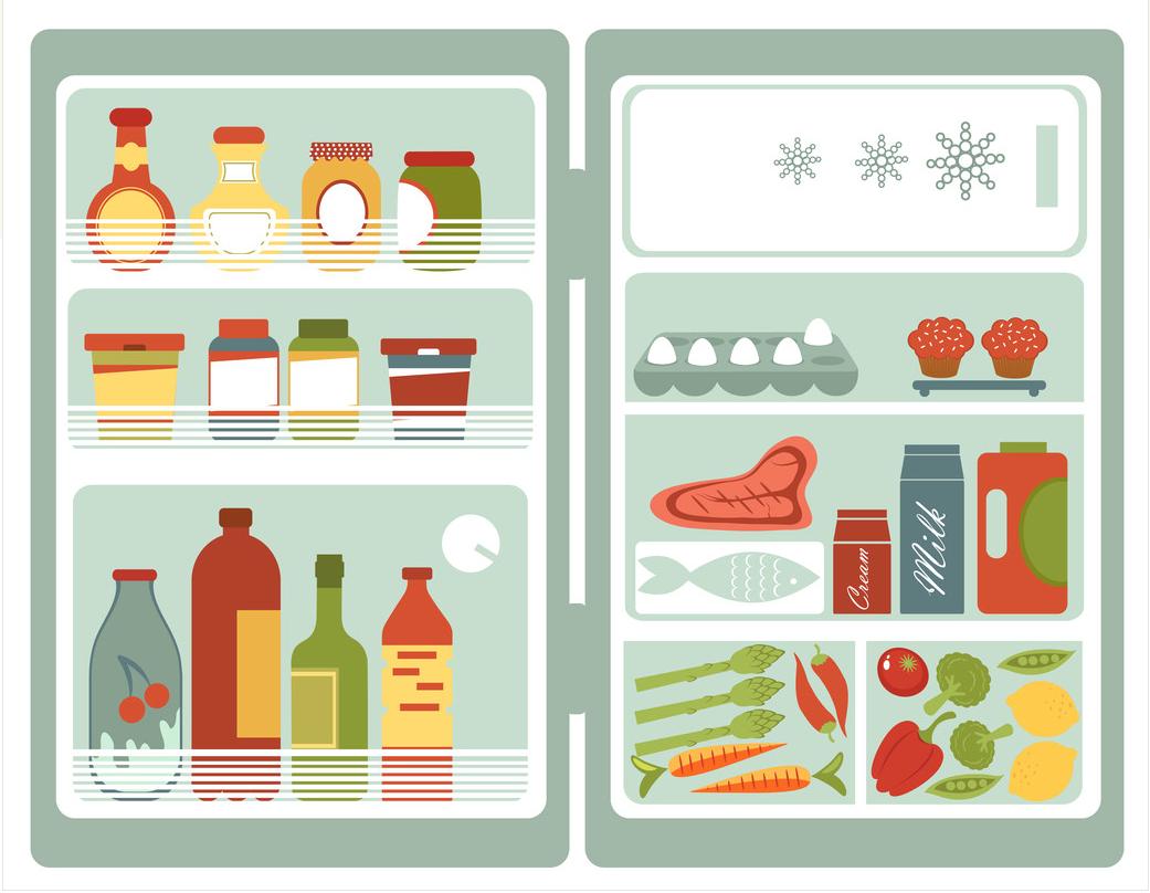 almacenamiento de refrigeración de alimentos